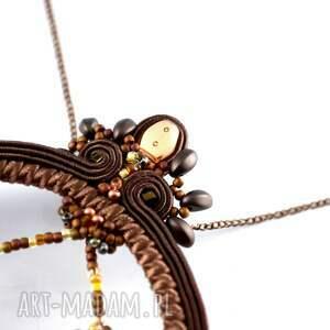 handmade wisiorki dreeam-catacher brązowy, czekoladowy wisior
