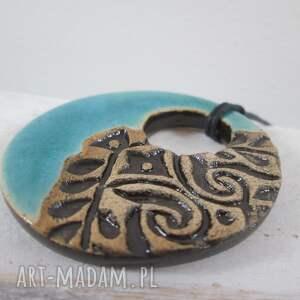 trendy wisiorki turkusowa ceramika ceramiczny wisior turkus