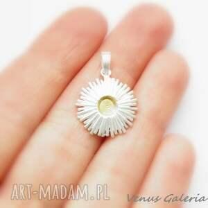 wisiorki cynia biała - wisiorek srebrny