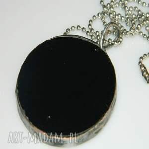 czarne wisiorki wisior czarny szklany