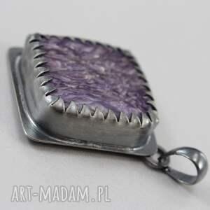 wisiorki oksydowany piękny wisior wykonany własnoręcznie ze srebra