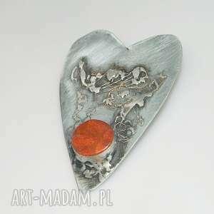handmade wisiorki wisior czerwone serce n5