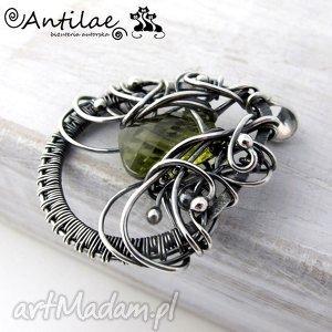 gustowne wisiorki srebro liin - kwarc, srebro, wire wrapping