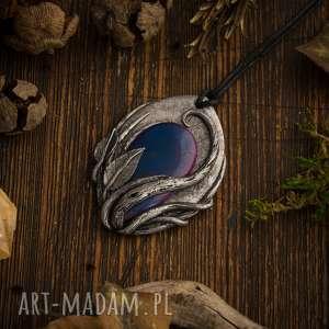 elficki niebieskie wisior inspirowany naturą w formie