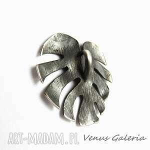 oksyda wisiorki filodendron - zawieszka srebrna