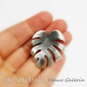 wisiorki oksyda filodendron - zawieszka srebrna