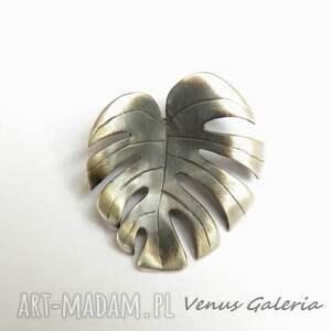 intrygujące wisiorki srebro filodendron - zawieszka srebrna