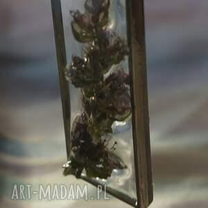 niepowtarzalne wisiorki fiolet fioletowa nostalgia - zawieszka