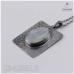 ChileArt modne wisiorki kamień księżycowy i srebro