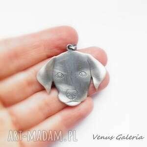 wisiorki biżuteria labrador - wisiorek srebrny