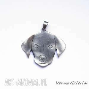 wisiorki srebro labrador - wisiorek srebrny