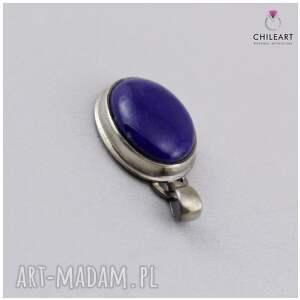 ręczne wykonanie wisiorki lapis-lazuli lapis lazuli w oksydowanym srebrze