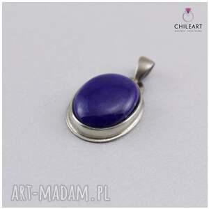 czarne wisiorki lapis-lazuli-wisior lapis lazuli w oksydowanym srebrze