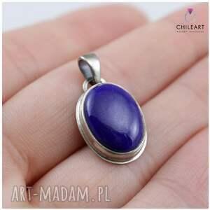 lapis-lazuli wisiorki niebieskie lapis lazuli w oksydowanym srebrze