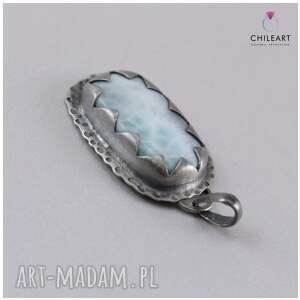 wisiorki: Larimar i srebro - wisiorek 2903 - wisior srebrny