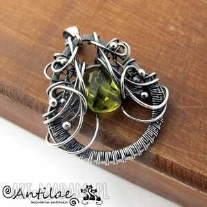srebro wisiorki liin - kwarc, srebro, wire wrapping