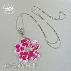 różowe wisiorki wisiorek 0558/mela - śliczny