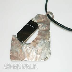 czarne wisiorki wisior miedziany agat