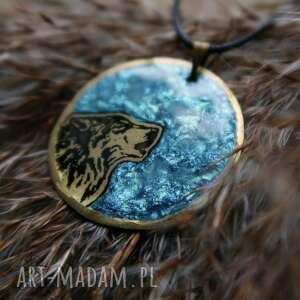 wilk wisiorki turkusowe morski księżyc i - wisior