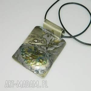 ręcznie wykonane wisiorki wisior muszla paua-n54