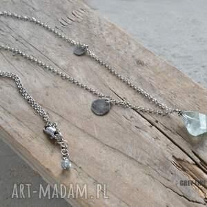 ręcznie robione wisiorki akwamaryn naszyjnik z akwamarynem