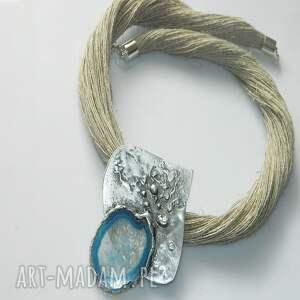 nietuzinkowe wisiorki miedziany niebieski agat