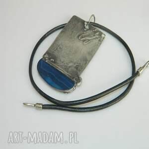 niebieskie wisiorki wisior miedziany niebieski agat
