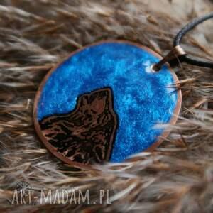 wisiorki wilk niebieski księżyc i - wisior