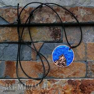 niebieskie wisiorki wilk niebieski księżyc i - wisior