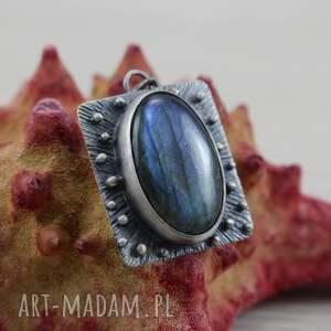 labradoryt wisiorki niebieskie śliczy wisior wykonany własnoręcznie ze srebra