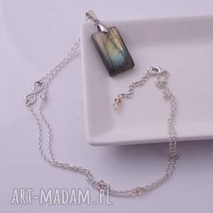 trendy wisiorki srebrny nieskończoność-srebrny wisior