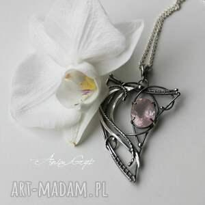 różowe wisiorki srebro pan różowy