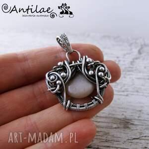 hand-made wisiorki sunstone quyosh - kamień słoneczny, srebro