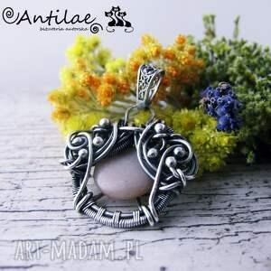 hand-made wisiorki wisior quyosh - kamień słoneczny, srebro