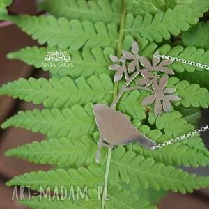 atrakcyjne wisiorki wycinany romantyczna ptaszyna
