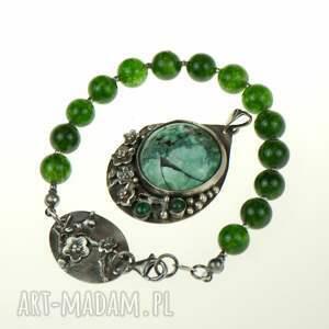 handmade wisiorki romantyczny wisior z turkusem