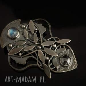 awangardowe wisiorki artnoveau srebrny wisior księżycowy - pełnia