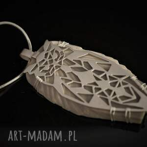 srebro wisiorki srebrny wisior geometryczna sowa