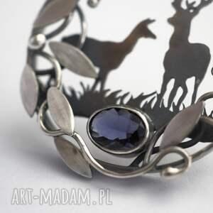 hand made wisiorki las srebrny wisior w ciszy lasu