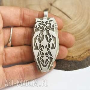 wisiorki srebro srebrny wisior geometryczna sowa