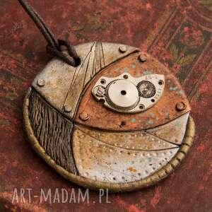 brązowe wisiorki wisior steampunkowy