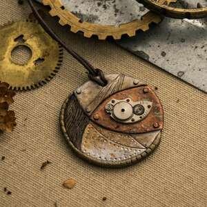 malowany wisiorki steampunkowy wisior