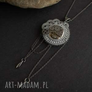 wisior wisiorki srebrne steampunkowy sutaszowy