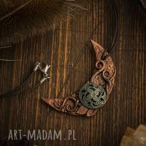 hand made wisiorki naszyjnik steampunowy księżyc wisior