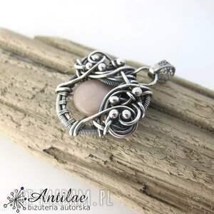 hand-made wisiorki wire-wrapping wisiorek wire wrapping, kamień