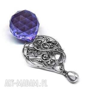 hand made wisiorek swarovski_purple