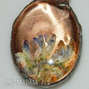 wisiorki wisior szklane roślinne terrarium