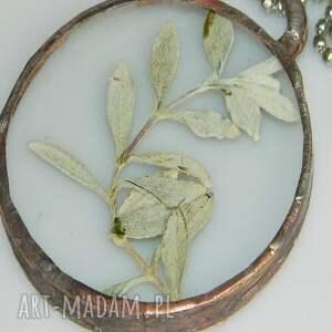 brązowe wisiorki wisior-miedziany szklany wisior