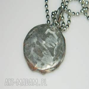 srebrne wisiorki wisior szklany