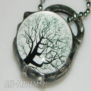 niebanalne wisiorki wisior szklany wisior-drzewo